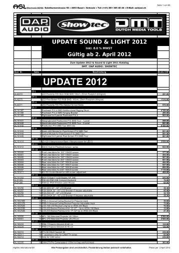 UPDATE 2012