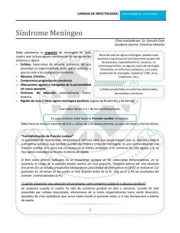 Meningitis - Facultad de Medicina UFRO - Universidad de La Frontera