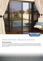 Trellidor Clear Guard - Sliding Doors & Windows