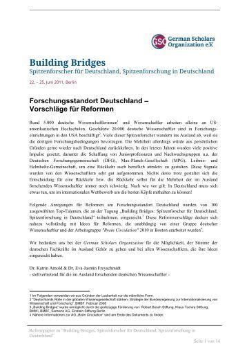 Building Bridges - German Scholars Organization