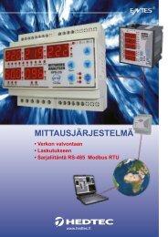 MITTAUSJÄRJESTELMÄ - Hedtec Oy
