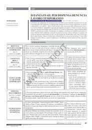 Istanza Inail per dispensa denuncia lavoro temporaneo - Ratio