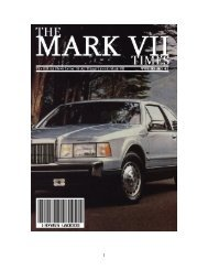 Rear Air Spring Replacement - The Lincoln Mark VII Club