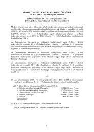 Tisztelt Közgyűlés - Miskolc