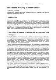 Mathematical Modeling of Nanomaterials - COMSOL.com