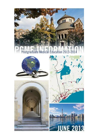pgme information - Post Graduate Medical Education University of ...