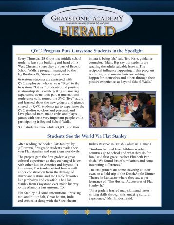 Read the Herald - Graystone Academy
