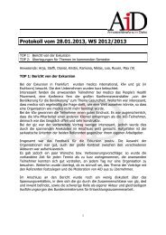 Protokoll vom 28.01.2013, WS 2012/2013