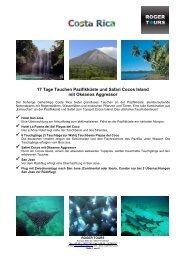 17 Tage Tauchen Pazifikküste und Safari Cocos ... - Roger Tours
