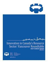 Innovation in Canada's Resource Sector: Vancouver Roundtable