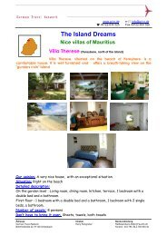 The Island Dreams Nice villas of Mauritius Villa Therese (Pereybere ...