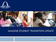 IMAGINE STUDENT TRANSITION UPDATE - St. Louis Public Schools
