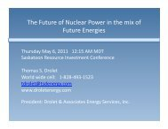 The Future of Nuclear Power in the mix of Future Energies - Drolet ...