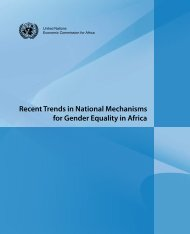 Recent Trends in National Mechanisms for Gender Equality in Africa