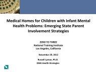 Medical Homes for Children with Infant Mental Health Problems ...