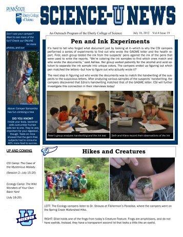 July 18 - Issue 19 - Science-U News - Penn State University