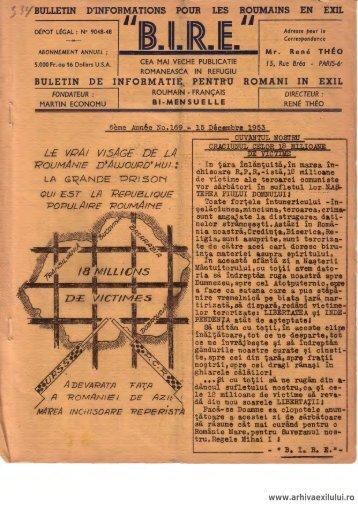 BIRE NR. 169 - arhivaexilului.ro