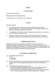 aktuelle Satzung downloaden - Bundesverband ...