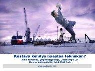 Kestävä kehitys haastaa tekniikan, Juha Ylimaunu - Oamk