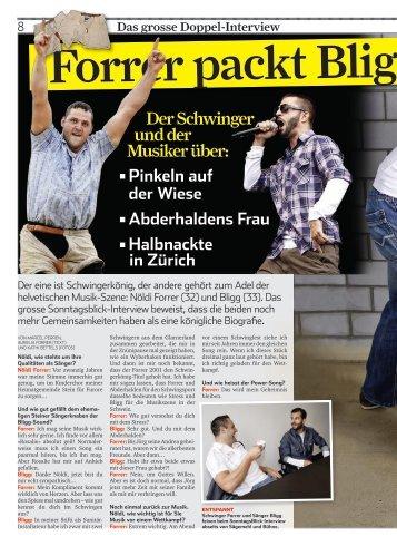 Der Schwinger und der Musiker über: - Bligg