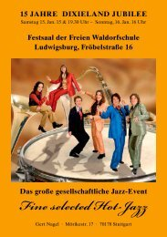 Fine selected Hot-Jazz - Ludwigsburger-kultursommer.de