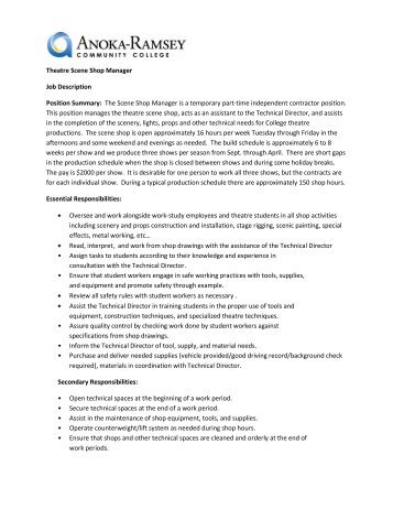 Position Description Job Summary Main Duties