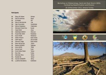 26-28 November 2012, Ankara-Turkey - Sand and Dust Storm (SDS)