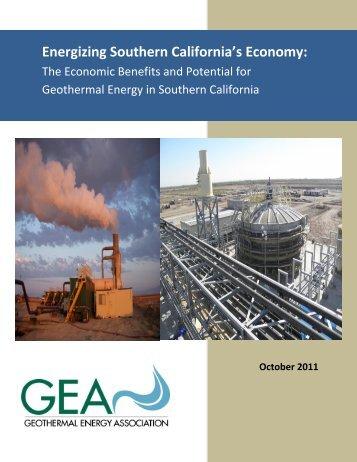 Energizing Southern California's Economy: - Geothermal Energy ...