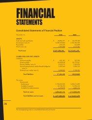 Financial Statements 2010 - The New York Community Trust