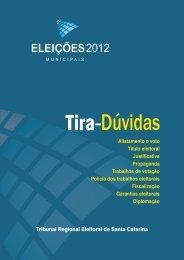 Tira-Dúvidas - Tribunal Regional Eleitoral de Santa Catarina