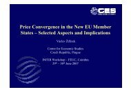 Price Convergence in the New EU Member States – Selected ...