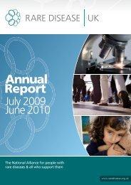 Annual Report 2009-2010 - Rare Disease UK