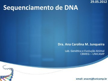 Sequenciamento de DNA - AMiGA - Unicamp