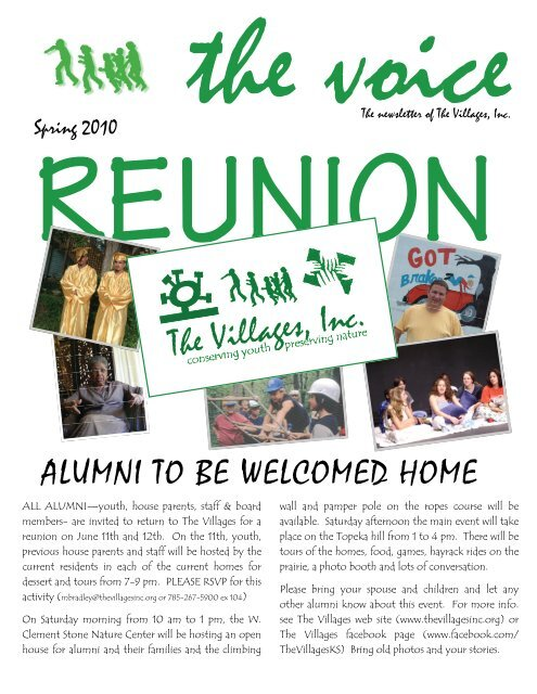 ALUMNI TO BE WELCOMED HOME - Thevillagesinc.org