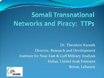 Dr. Theodore Karasik Director, Research and Development ... - ITP.net