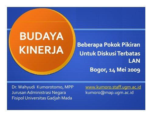 Pokok Pikiran Budaya Kinerja.pdf - Kumoro.staff.ugm.ac.id