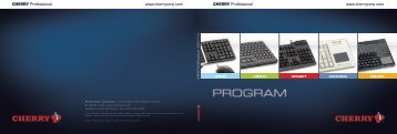 Keyboard Catalog - Cherry Corporation