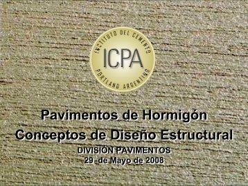 Pavimentos de Hormigón Conceptos de Diseño Estructural ... - ICPA