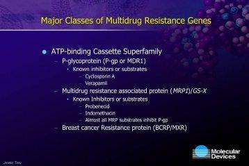 Major Classes of Multidrug Resistance Genes - Molecular Devices
