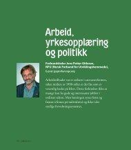 Les hele artikkelen til Forbundsleder Jens Petter Gitlesen her. - NFU