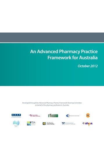 An Advanced Pharmacy Practice Framework for Australia