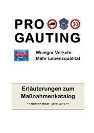 Erläuterungen zum Maßnahmenkatalog - Bürgerinitiative Pro-Gauting