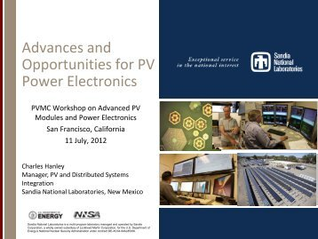 Advances and Opportunities for PV Power Electronics - PVMC
