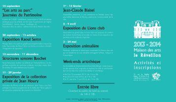 Téléchargez la plaquette des activités 2013-2014 - ville de Brunoy