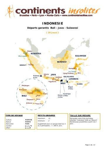 INDONESIE - Continents Insolites