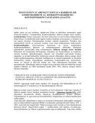 Kontseptsiooni taustaanalüüs - Keskkonnaministeerium
