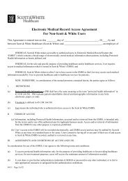 Electronic Medical Record Access Agreement - Healthcare ...
