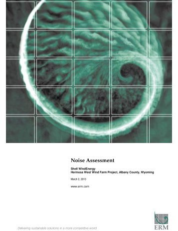 Noise Assessment - Mar. 2, 2010 - Western Area Power Administration