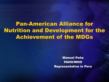 Pan-American Alliance for Nutrition and Development for the ...