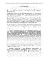 GUEST EDITORIAL Special Edition on Recent Advances in ... - IJCAS